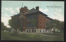 POSTCARD BELLEVILLE IL/ILLINOIS ROAH SCHOOL CAMPUS BUILDING 1907