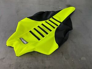 Yamaha YFZ 450R Seat Cover 2009 - 2020  Black / Neon Yellow / Black Ribs #201