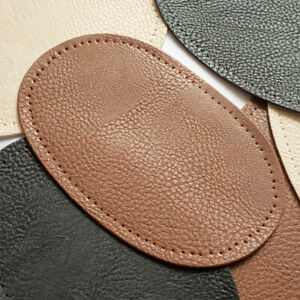 2Pcs Leather Elbow Knee Patches DIY Sewing Applique Craft with Sewing Holes