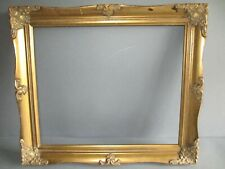 More details for vintage wood gold decorative gesso picture frame - painting photo (b)