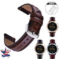 Genuine Leather Watch Strap For Fossil  Q Venture Gen 4 Gen 3 SmartWatch Bands