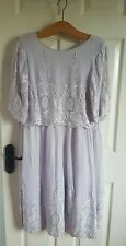 ASOS Lilac Pastel Embroidered Beaded Flapper Midi Dress