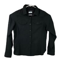Columbia Omni-Shade Womens Medium Black Vented Button-Up Sleeves Shirt