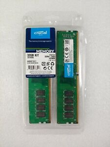 Crucial 32GB  DDR4 CT16G4DFD824A PC4-19200 288-Pin 2400MHz Memory Desktop Dimm