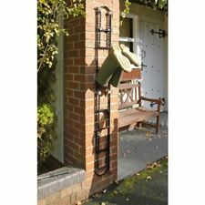 Black Wall Mounted Boot Rack For 4 Pairs of Wellies