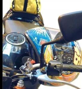Motorcycle Motorbike Universal Handlebar Helmet & Clothing Chromed Lock LOCHELM