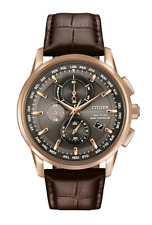 Citizen Eco Drive AT8113-04H Mens Atomic Time Rose Gold Tone Chronograph Watch