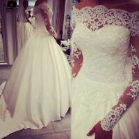 Crystal Beading Bolero Wedding Bridal Jackets Boat Neck Long Sleeve Custom Lace