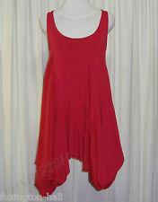 GORGEOUS VON TROSKA SILK PANELLED RED DRESS size S