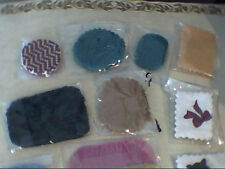 large lot of 13 mini,miniature dollhouse rugs mixed shapes colors Sale
