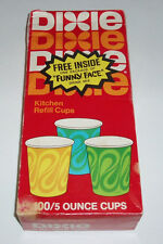 1970's Dixie Cups Box with Free Pillsbury Funny Face pack inside