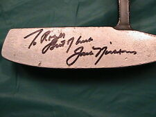 Jack Nicklaus autograhped '86 Masters putter