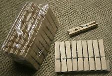 100 Holzklammern, Wäscheklammer, Klammern, kräftige Feder, Buchenholzklammer neu