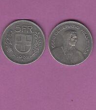 Gertbrolen Suisse  5 Francs  Suisse en argent 1932 Confédération Helvetica Swiss