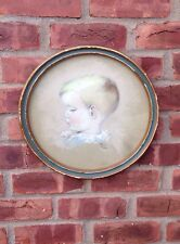 Lovely Pastel Painting Of A Little Boy By Eleanor Weeden Circa 1940's