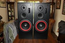 Pair of Cerwin Vega LS-10 3 Way Speakers Beautiful Quality Sound USA Can Ship