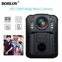 Boblov 1296P Police Security Body Worn Camera Video DVR Camcorder Night Vision