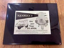 VESPA Vintage Original 1961 NANNUCCI GS150 GS160 Advert PIAGGIO SCOOTER MODS
