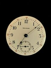 18s Waltham Pocket Watch Movement Running Great Dial And Hands