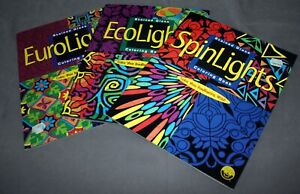 Eurolights/Spinlighst/Ecolights Stained Glass Coloring Books (Set of 3)