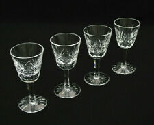 """(4) WATERFORD IRISH CRYSTAL - LISMORE - 3 1/2"""" CORDIAL GLASSES - EXCELLENT COND."""