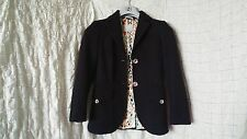 Missoni black textured tailored fitted blazer with colorful buttons size 8 UK