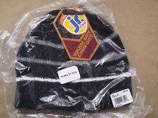 Juniors Teen Seirus Innovation Morse Beanie Winter Hat Striped Black/Gray/White