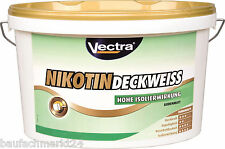 Vectra Nikotin Deckweiss 10 L strapazierfähige Wandfarbe gegen Nikotin-Flecken