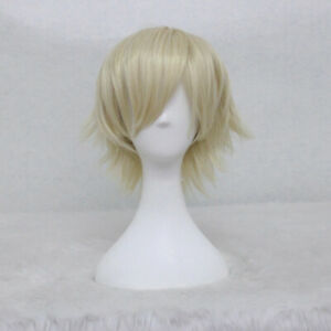 Noragami Yukine SHORT LIGHT BLONDE Anime Cosplay Costume Wig +a wig cap