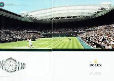 Publicité Advertising 088 2012   montre  Rolex Wimbledon (2p) datejust II