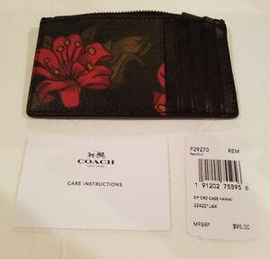 Coach Mens Card Case Hawaii Flower NWT F29271 $95