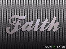 FAITH -- Metal Inspirational Wall Art Home Christian Religious Sign God Love