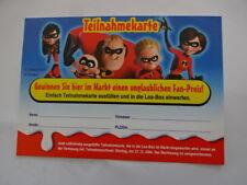 2005 - Die Unglaublichen - Teilnahmekarte