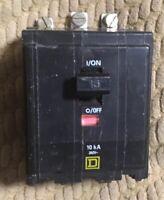 Square D QOB315 15 AMP 3 POLE 240 VOLT Bolt On Circuit Breaker
