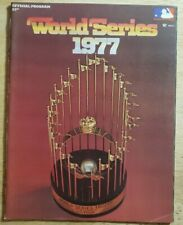 1977 WORLD SERIES OFFICIAL PROGRAM NEW YORK YANKEES LOS ANGELES DODGERS
