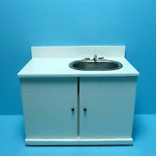 Dollhouse Miniature Kitchen Modern Sink in White ~ M9031A