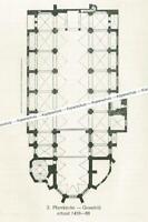 Landsberg am Lech : Pfarrkirche - Grundriss der Kirche - um 1920      T 2-9