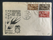1958 Spain Ifni First Day Cover Fdc Aid to Valencia