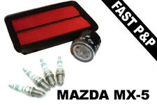 MAZDA MX5 1.6 NB (MK2) Oil Air Filters Spark Plugs Service Kit 1998-2005
