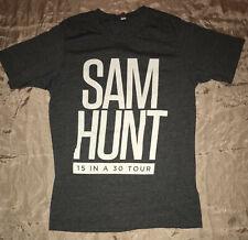 Sam Hunt Authentic 2017 15 In A 30 Concert Tour Shirt Medium Unworn Nm