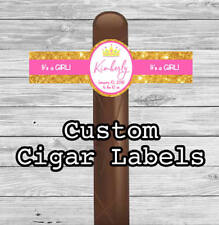 Set of 16 Personalized Cigar Labels, It's a Girl, Princess, New Baby Party Favor