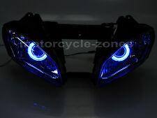 Fully Assembled Headlight W/ HID Blue Angel Demon Eyes Yamaha YZF R6 2006-2007