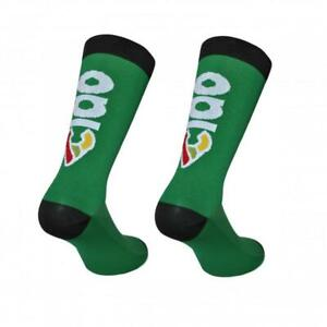 Cinelli 'Ciao' Cycling Socks in Green - Made Italy
