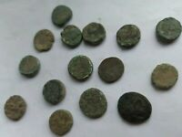 LOT OF 15 ANCIENT GREEK BRONZE COINS. THRACIAN CITIES MARONEIA AND ABDERA. B.C.