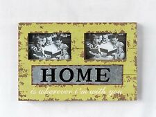 "Handmade Home is wherever I'm with you Metal/Wood Chunky Photo Frame 10.25""H"