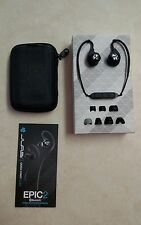 JLAB Epic2 Bluetooth Wireless Sport Earbuds Headset (Black) w/Carrying Case