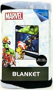 "1 Count Jay Franco & Sons Marvel Hulk Captain America & Groot 62"" X 90"" Blanket"