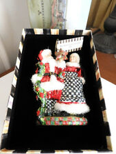 Mackenzie - Childs Mr. And Mrs. Claus Christmas Ornament Retired - New / Box!