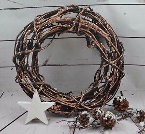 Dekokranz Kranz Türkranz Weihnachten Advent Weide Natur braun Ø 33cm