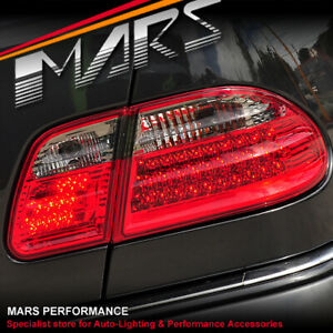 Smoked Red LED Tail Lights for Mercedes-Benz E-Class W210 Sedan 1995-2002
